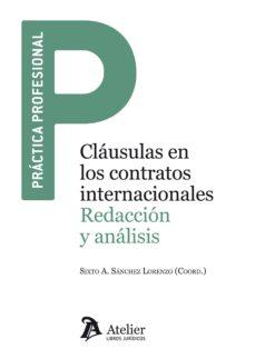 leer CLAUSULAS EN LOS CONTRATOS INTERNACIONALES gratis online