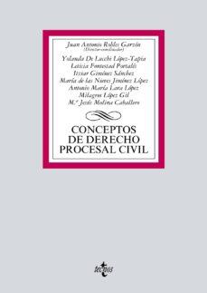 leer CONCEPTOS DE DERECHO PROCESAL CIVIL gratis online