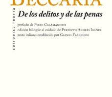 leer DE LOS DELITOS Y DE LAS PENAS gratis online