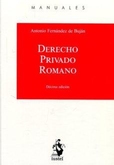 leer DERECHO PRIVADO ROMANO 2017 gratis online