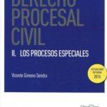 leer DERECHO PROCESAL CIVIL II: LOS PROCESOS ESPECIALES gratis online