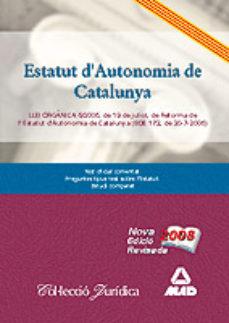 leer ESTATUT DAUTONOMIA DE CATALUNYA.LLEI ORGANICA 6/2006