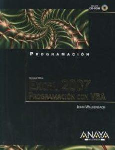 leer EXCEL 2007: PROGRAMACION CON VBA gratis online