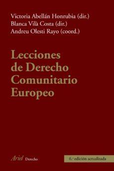 leer LECCIONES DE DERECHO COMUNITARIO EUROPEO gratis online