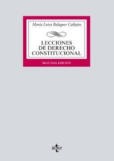 leer LECCIONES DE DERECHO CONSTITUCIONAL gratis online