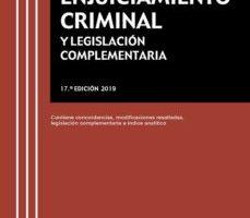 leer LEY DE ENJUICIAMIENTO CRIMINAL Y LEGISLACION COMPLEMENTARIA gratis online