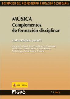 leer MUSICA: COMPLEMENTOS DE FORMACION DISCIPLINAR. FORMACION DEL PROF ESORADO gratis online