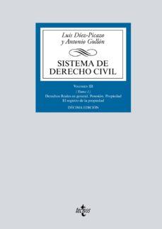 leer SISTEMA DE DERECHO CIVIL: VOLUMEN III  DERECHOS REALES EN GENERAL gratis online
