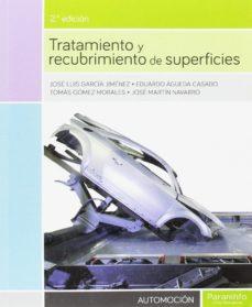 leer TRATAMIENTO Y RECUBRIMIENTO DE SUPERFICIES gratis online